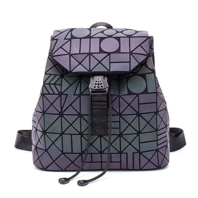 Backpack stitching Lattice Bag Men Women Backpack