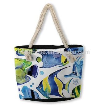 Hot Sell Flamingo Printed Casual Bag Women Beach Bags Canvas High Quality Ladies Shoulder Bag Single Handbags Ladies Tote BB196