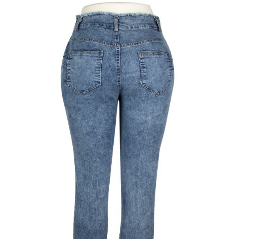 High Waist Jeans Women Streetwear Bandage Denim Plus Size Jeans Femme Pencil Pants Skinny Jeans Woman