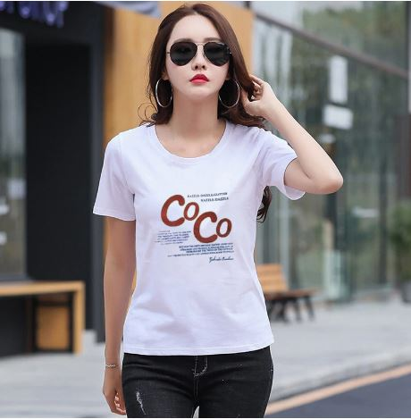 Korean Style Headwear Women T-Shirt 2019 Women Printed Summer Loose Plus Size Tops T-Shirt O-neck Casual Short Sleeve Women T-Shirt