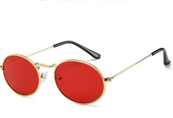 Oval Women Sunglasses Men Glasses Lady Luxury Retro Metal Sun Glasses Vintage Mirror