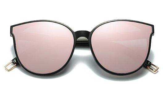Fashion Colour Luxury Flat Top Cat Eye Women Sunglasses Elegant oculos de sol men Twin Beam oversized Sun glasses