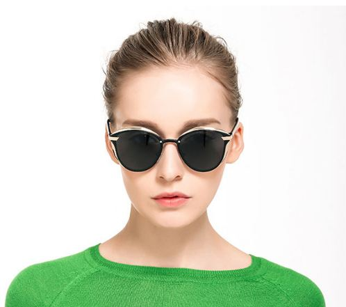 Luxury Women Sunglasses Fashion Round Ladies Vintage Retro Brand Designer Oversized Female Sun Glasses