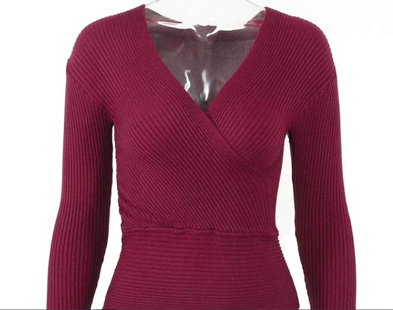Sexy Winter Knitted Sweater V Neck Cashmere Sweater Female 2018 Women Sweaters And Pullovers Autumn Long Sleeve Sweater Jumper