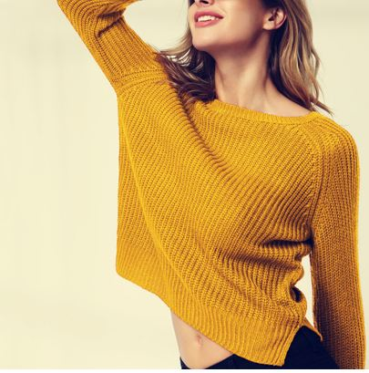 Autumn winter women sweaters and pullovers korean style long sleeve casual crop sweater slim solid knitted jumpers