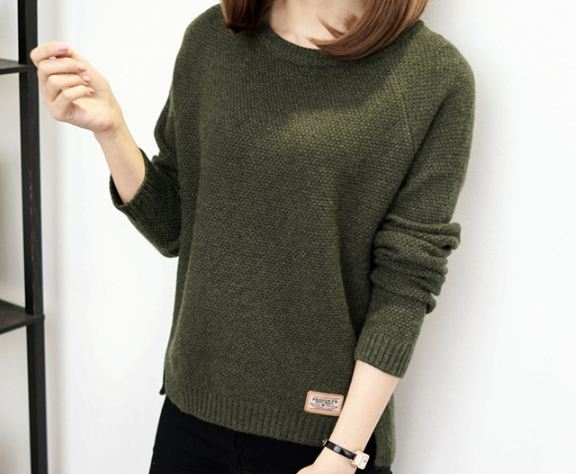 Winter women fashion sexy o-neck Casual women sweaters and pullover warm Long sleeve Knitted Sweater