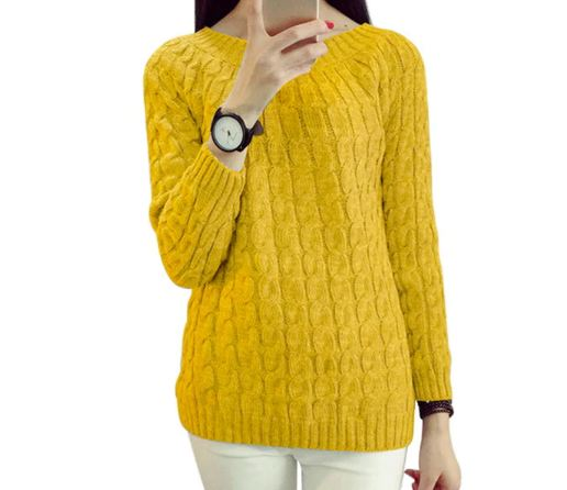 Twist Pattern Sweaters Women Autumn Winter Fashion Basic Pullover Female Jumpers Long Sleeve Pull Femme Casual Knitted