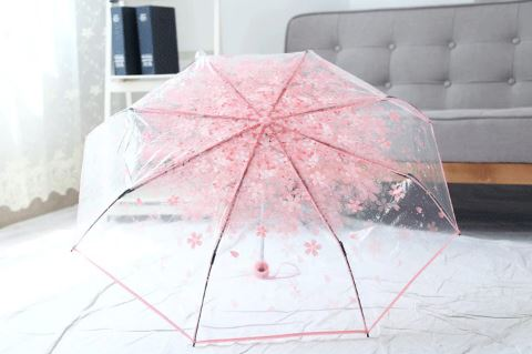 Clear Flower Transparent Female Umbrella Foldable Rain Umbrella For Women Umbrella umbrella umbrella femme paraplu parapluie ombrello