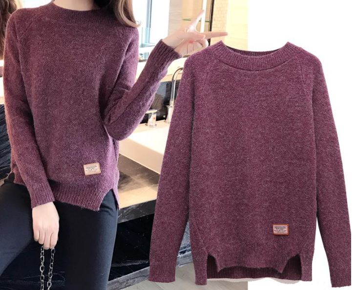 Women Sweaters And Pullovers Autumn Winter Long Sleeve Pull Femme Solid Pullover Female Casual Knitted Sweate