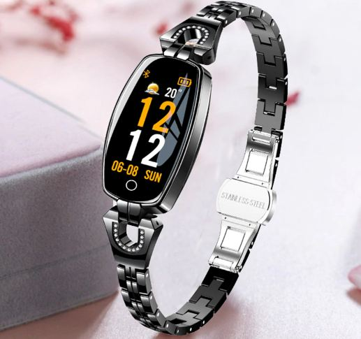"Fashionable Women's Shoes Smart Watch 0.96 ""OLED Heart Rate Blood Pressure Monitor Monitors Pedometer Fitness Tracker Water"