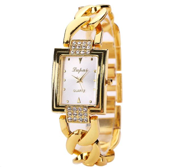 ladies watch top brand luxury Golden bracelet watches women wrist watches with rhinestones ladies wrist watches