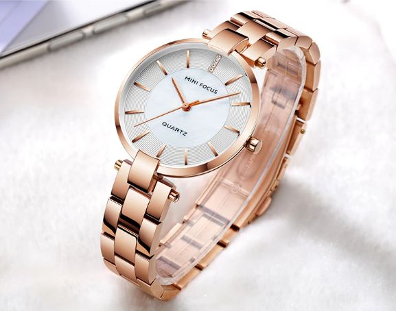 Mini Focus black Stainless steel bracelet watches for Women Fashion Luxury clothing wrist watches for lady woman