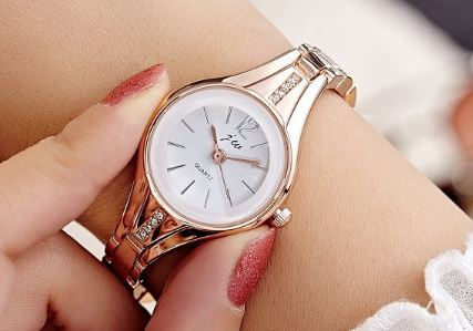 Rose Gold Quartz Watch For Women Watches Elite Brand Stainless Steel Bracelet Watch Women Clothing Crystal Wristwatch