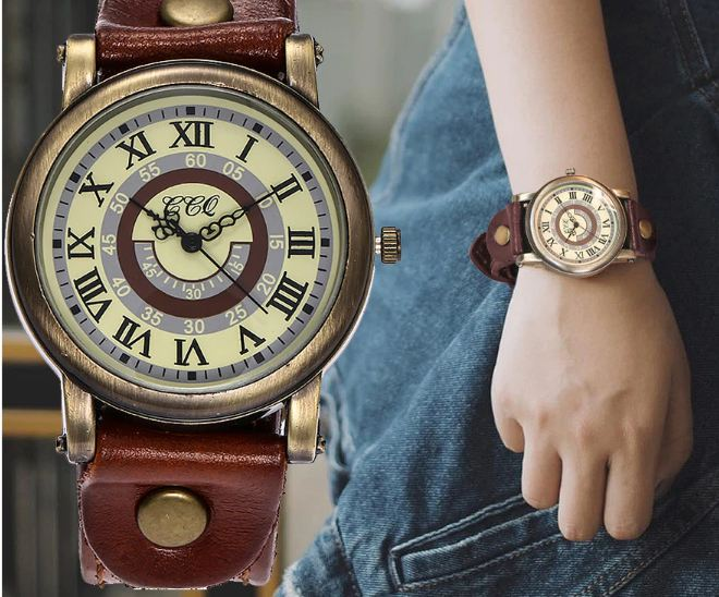 Cow Leather Bracelet Watch for Women Casual Wristwatch Luxury Quartz Watch Relogio Feminino