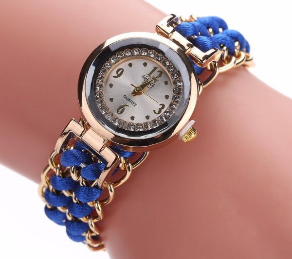 Women bracelet handmade watches New designer braid beads Knitting Adjustable wrist watch gift mini Dial Relogio Feminino