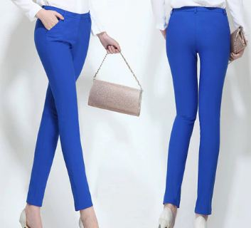 women's casual OL office Pencil Trousers Girls's cute 12 colour Slim Stretch Pants fashion Candy Jeans Pencil Trousers