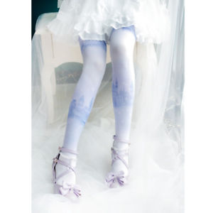 Sweet Lolita Printed Long Stockings Pretty Mori Girl Stockings Thigh Highs
