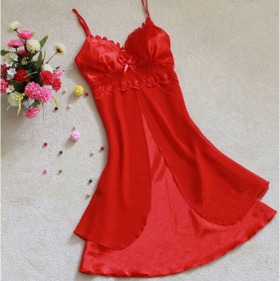 Fashion Sexy Women Lingerie Nightgown Casual Ladies Sleepwear Nightdress Camisola Vestidos Femininos Nightie Women Clothing