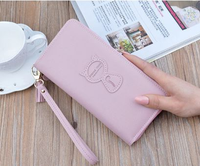 Women's Long Clutch Wallet Card Holder Credit Card Phone Bag Women's Handbag Large Cute Lady Bag Wristlet Multifunctional Zipper Wallet