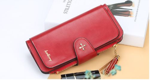 2019 Baellerry Card Tassel Buckle Women Long Wallet Color Card Handbag Bag Mobile Phone Luxury Wallet.