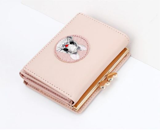 Women's PU Leather Wallet Women's Wallets Bolt Wallet Women's Wallet Cute Women's Wallet Small Card Wallet & ID Mini Pu