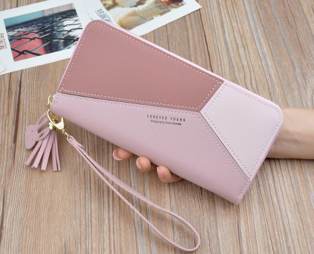 2019 Luxury Brand Of Leather Wallets Women's Clutch Wallets Long Design Zipper Coin Handbags Tassel Female Money Bag Credit Card Holder