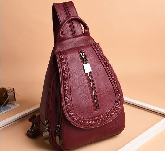 Women Leather Backpacks Classic Female Chest Bag Sac a Dos Travel Ladies Bagpack Mochilas School Bags For Trrnage Girls
