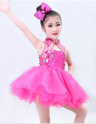 Ballet Tutu Performance Dress Dance Stage Costume Children's Sequin Dress