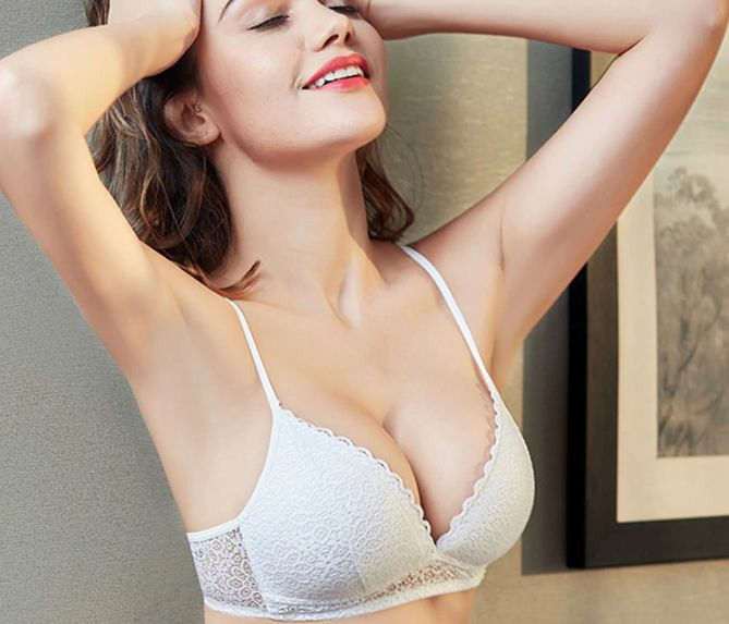 Wire Free Push Up Sexy Women Bras Lace Bralette Lingerie Small Breast Adjusts A B C Bra