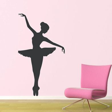 Decal Wall-Dancer Ballet Ballerina Vinyl Wall Decal Stickers Free Shipping A2058