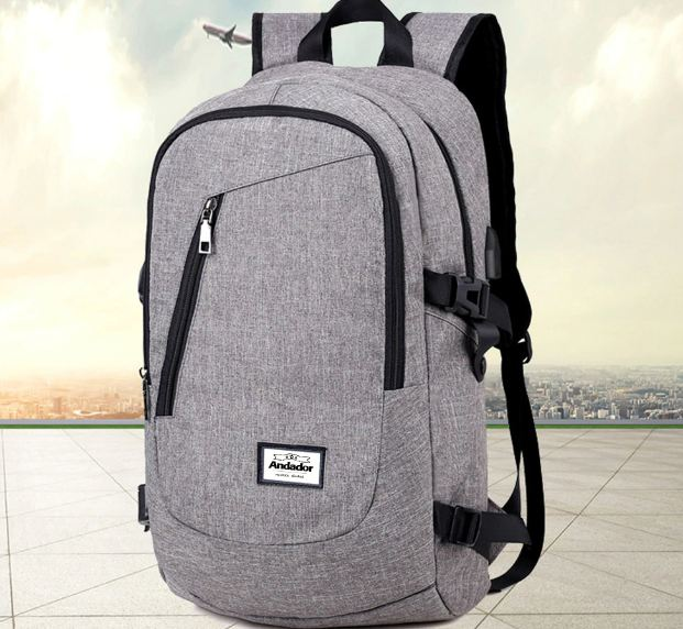 laptop backpack usb charging computer backpacks casual style bags large male business travel bag