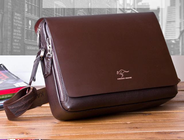 luxury Brand men's messenger bag Vintage leather shoulder bag Handsome crossbody bag handbags