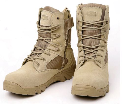 Men's Military Boots Quality Work Boats Army Special Force Tactical Combat Desert Ankle Leather Shoes