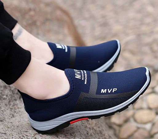Men Casual Shoes Air Mesh Shoes For Men Loafers Black Fashion Sneakers