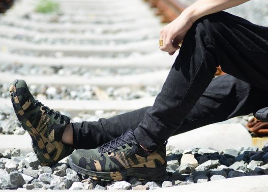 Work Boots Outdoor Men's Camouflage Shoes Men's High-Quality Puncture Proof