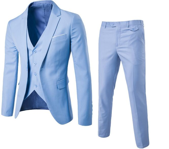 Men Wedding Suit Male Blazers Slim Fit Suits For Men Costume Business Formal Party Blue Classic