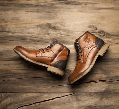 Men's Winter Boots Style Large Size Vintage Men's Casual Shoes Fashion High-cut Lace-up