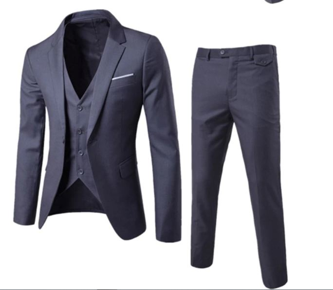 Slim suits men's business casual clothing groomsman three-piece suit Blazers