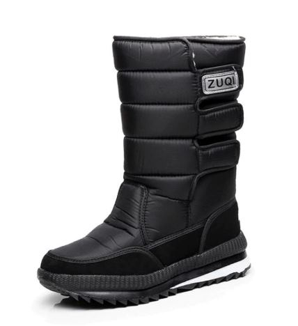 Men's Platform Boots Snow Boots For Men thick plush slip-resistant waterproof winter shoes