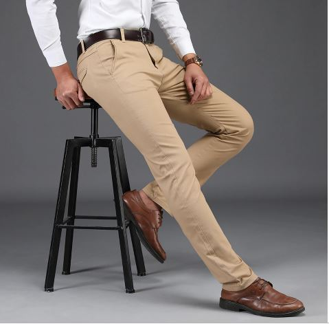 Men's Casual Trousers High Quality Pants Men's Business Fashion Formal Full Length Men's Classic Pants