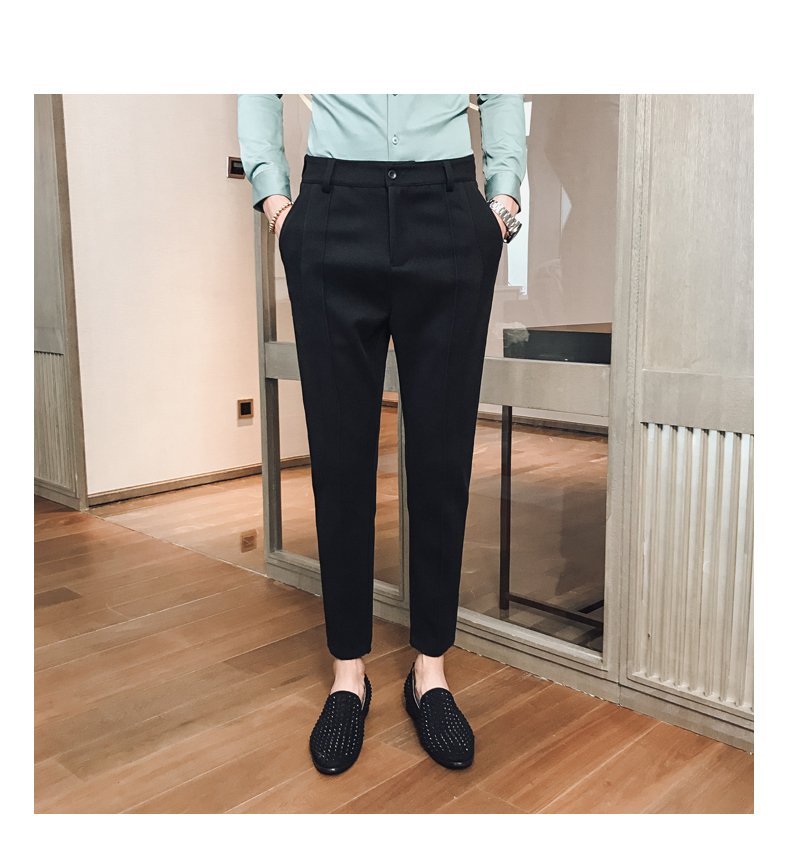 Fashion Business Casual Men's Straight Slim Fit Men's Formal Pants