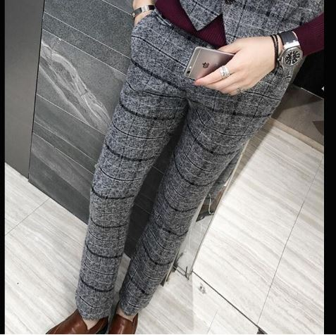 Men's Trousers Slim Fit Men's Fashion Plus Size Chiffon Business Men's Trousers