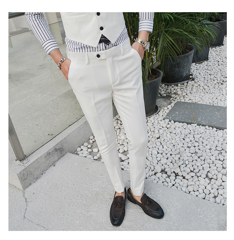 Men's Fashion Boutique Elastic Thin Pants Formal Business Suit / Wedding Dress