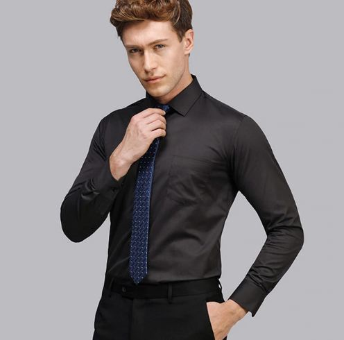 Men Dress Shirt Long Sleeve Slim Brand Man Shirts Designer High Quality Solid Male Clothing Fit