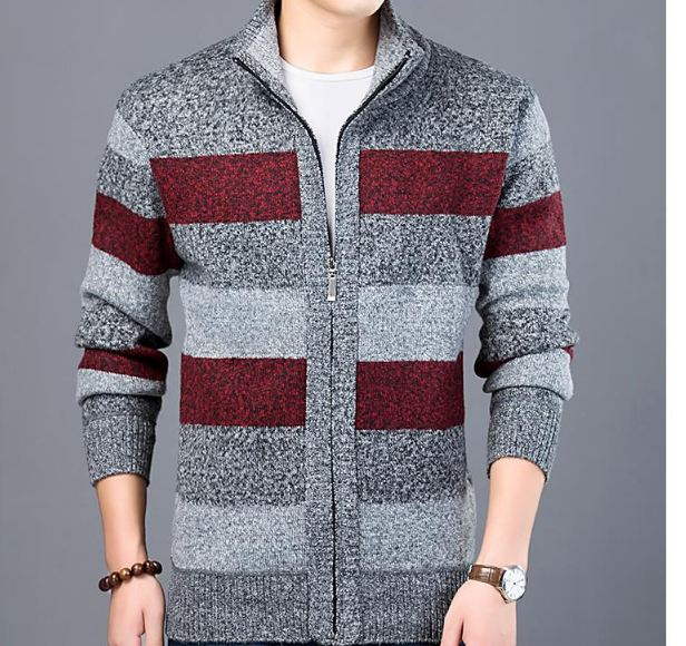 Sweater For Mens Cardigan Slim Fit Jumpers Knitwear Warm Autumn Korean Style