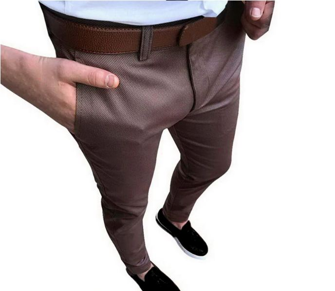 Men Wedding Suit Pants Fashion Solid Social Business Dress Pants