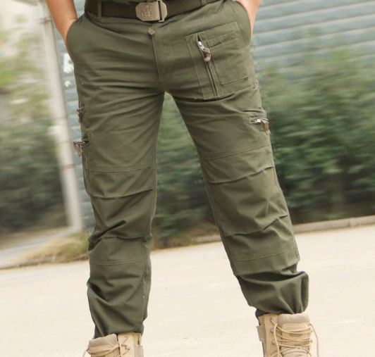 Tactical Pants Army Male Camo Jogger Plus Size Cotton Trousers Many Pocket Zip Military Style