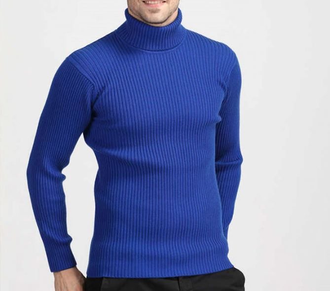 Thick Warm Cashmere Sweater Men Turtleneck Mens Sweaters Slim Fit Pullover Men Classic Wool Knitwear