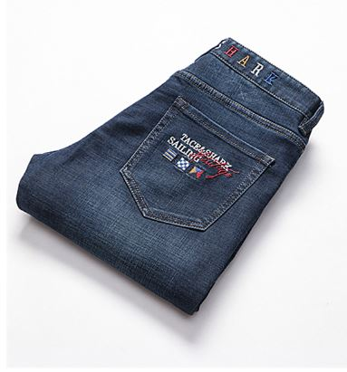 Men's jeans Tace & shark brand jeans clothing Straight, medium and straight cotton,