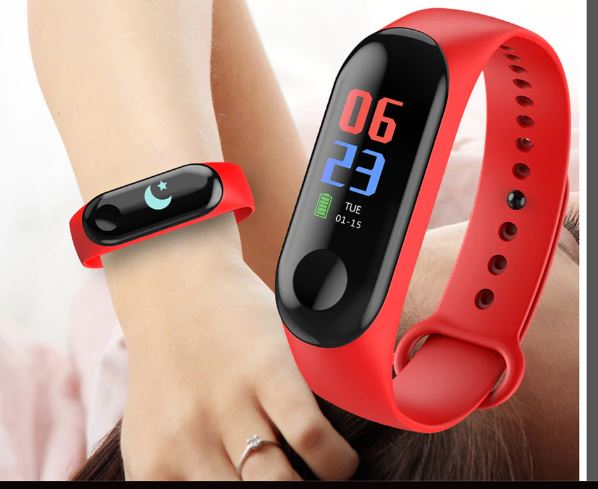 Men's Women's Smart Fitness Bluetooth Watch Bracelet Men's Sports Bracelet Heart Rate Digita